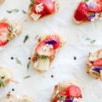 Strawberry Manchego Crostinis