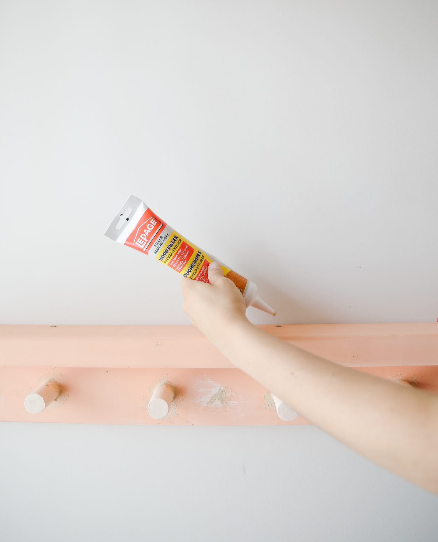 DIY Pink Entryway Rack