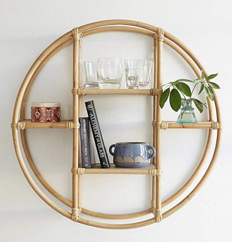 Shelf in Rattan to hang plants