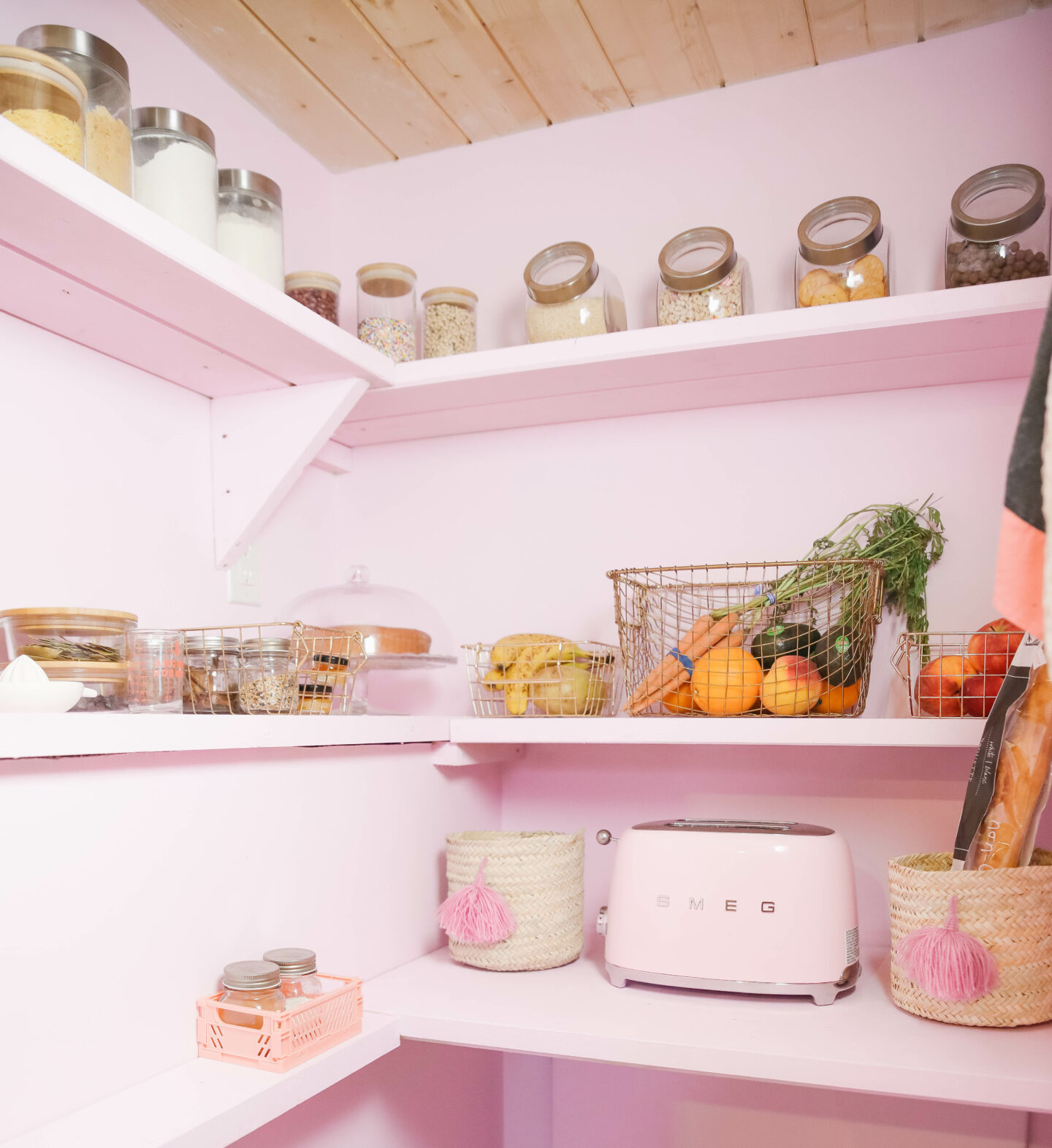 Pastel Kitchen Pantry