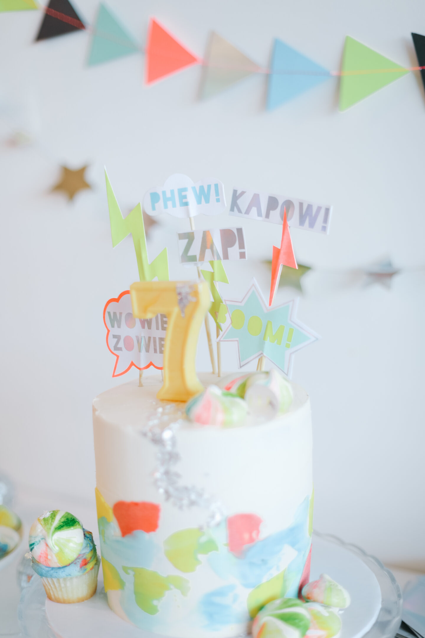 A colourful cake for parties