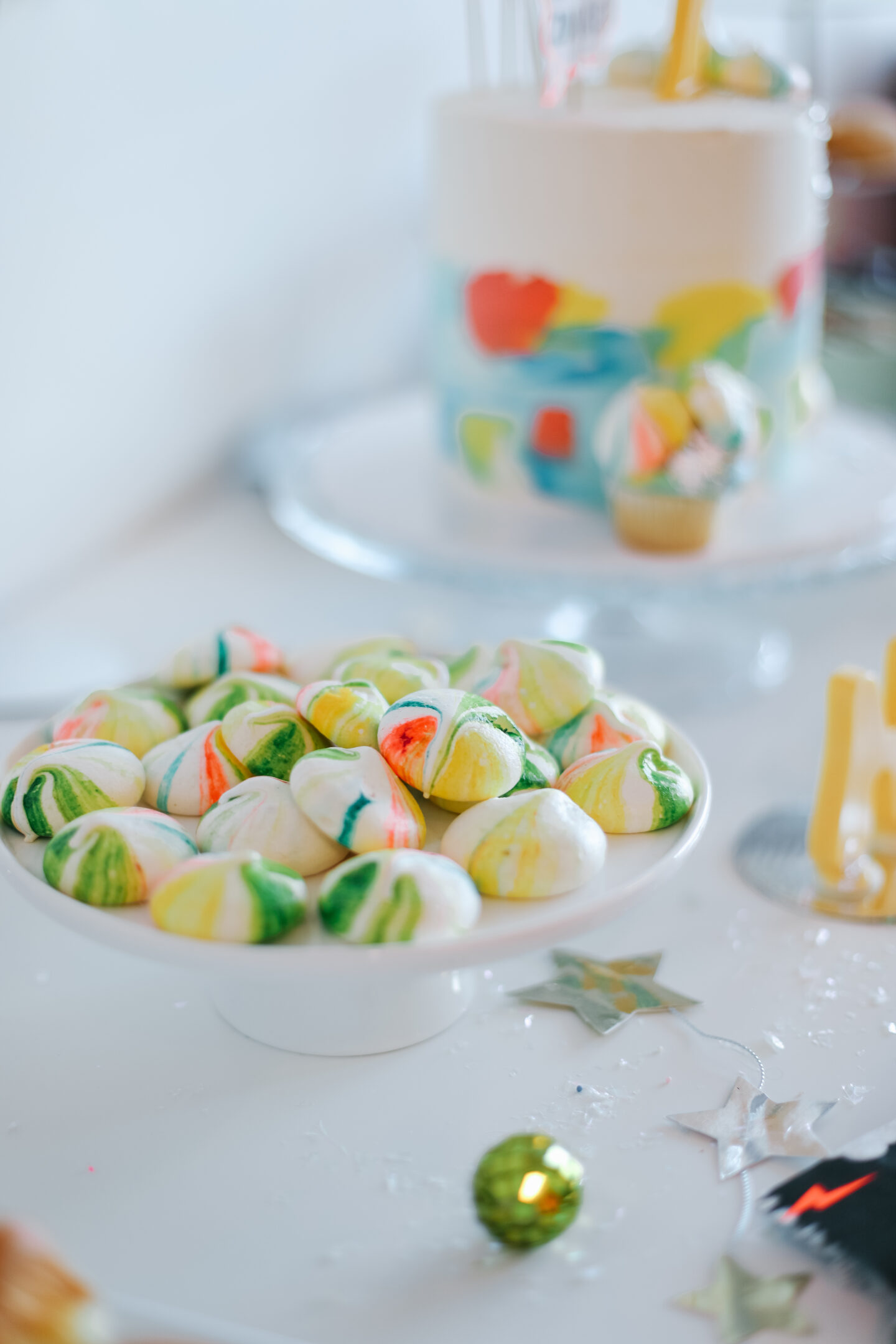 A colourful table for kids parties