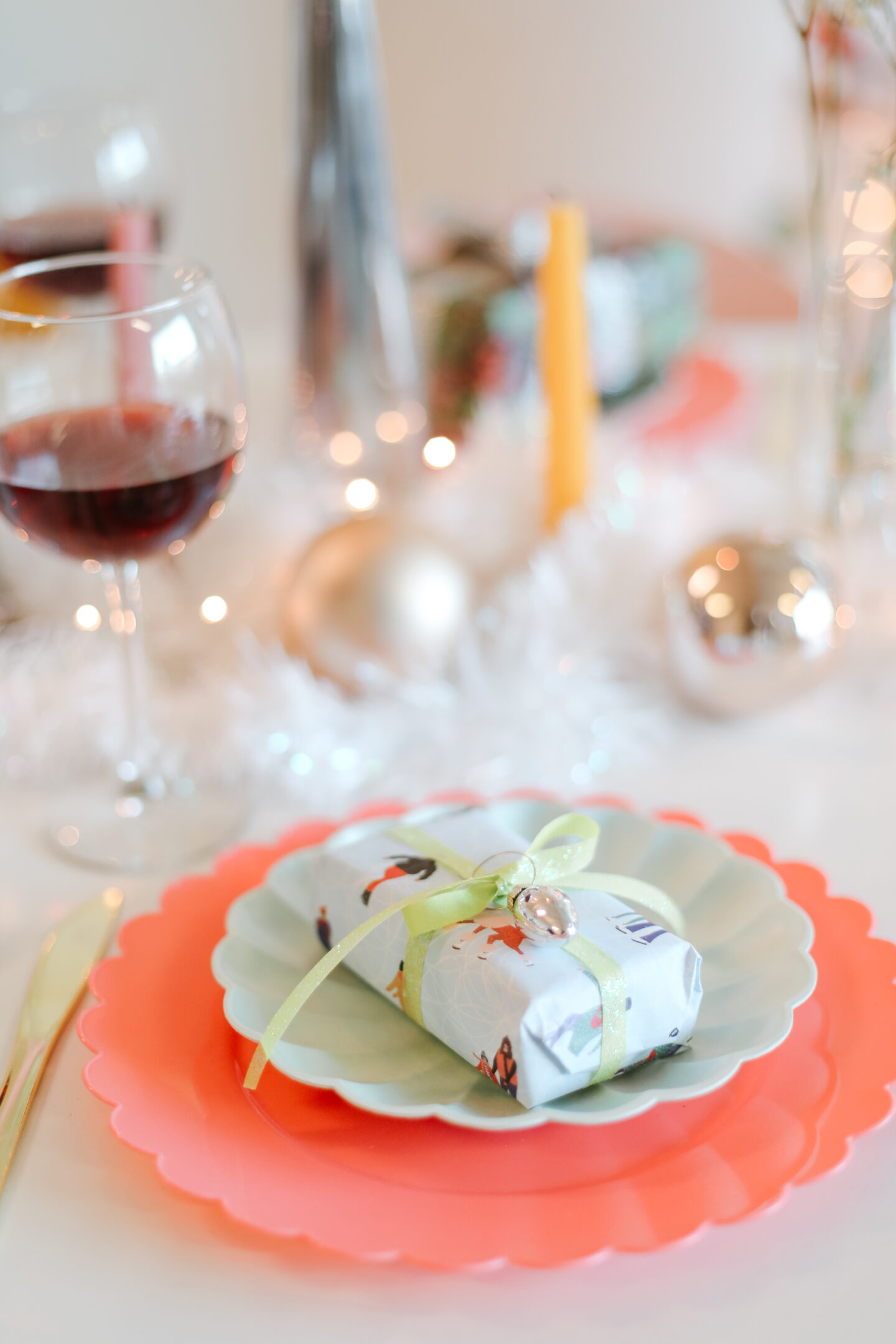 A whimsical Christmas Tablescape