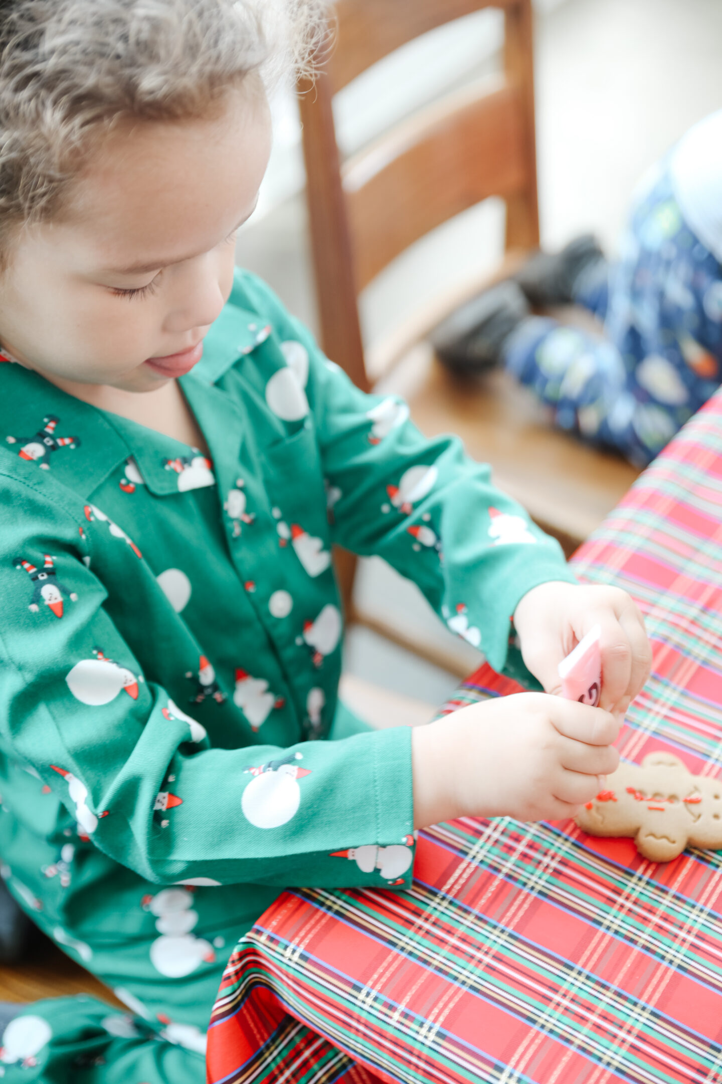 Decorate cookies with kids