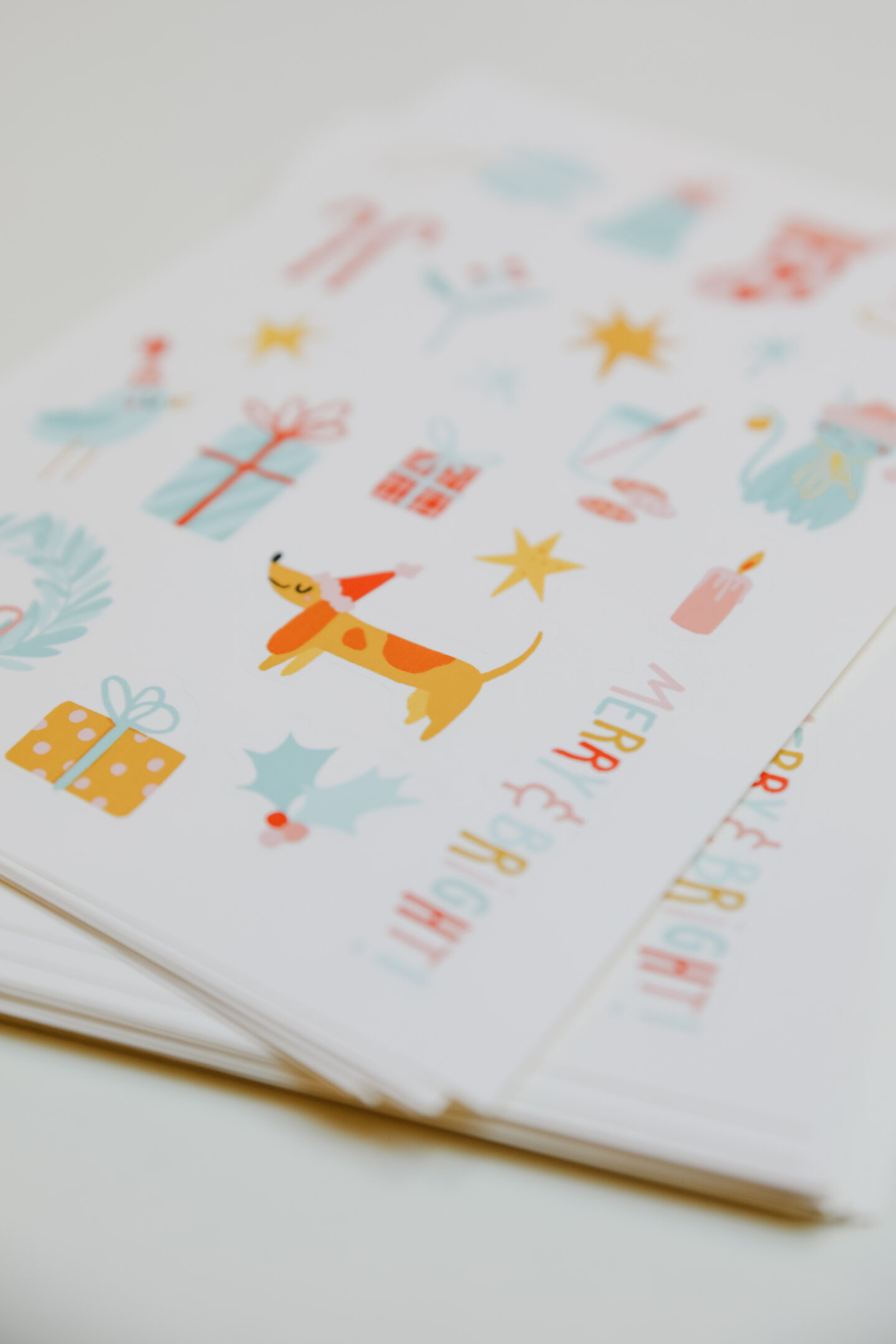 Christmas stickers printables