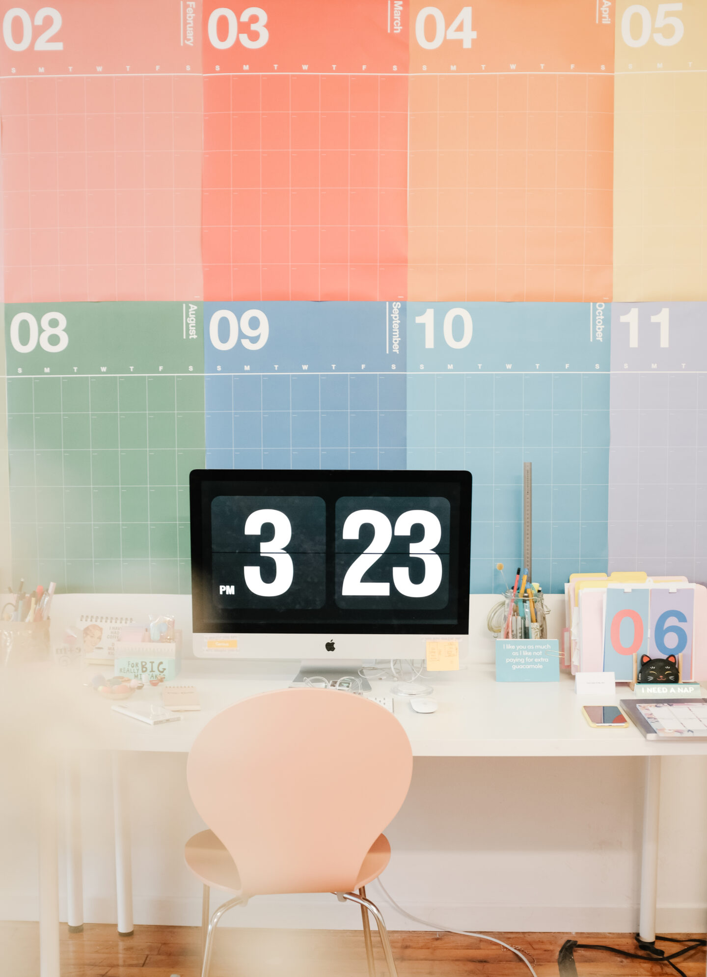 Colourful Wall Calendar Decor