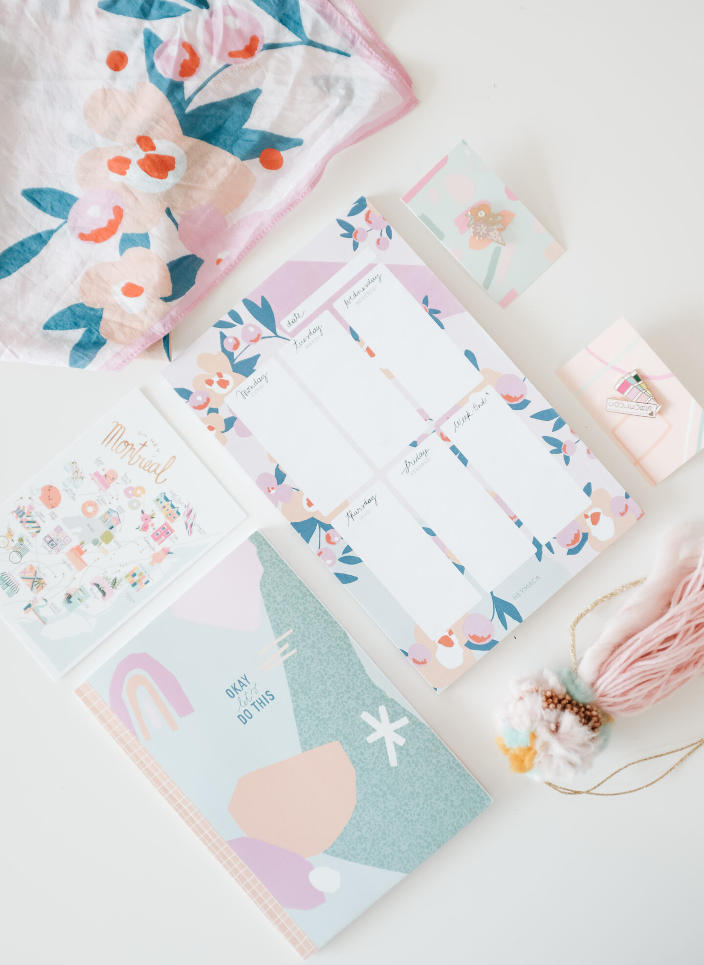 A pastel Stationary collection: HeyMaca Products