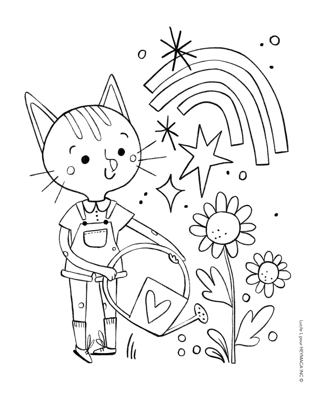 Free cute colouring pages