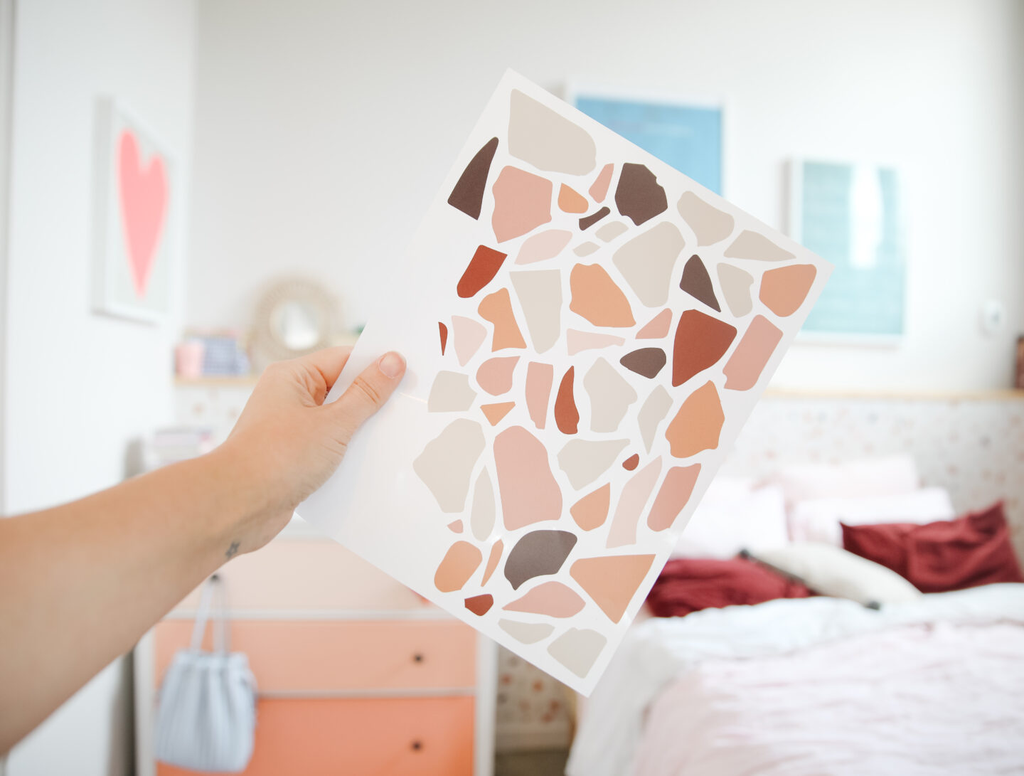 Terrazzo Wall Decals: How to Install them