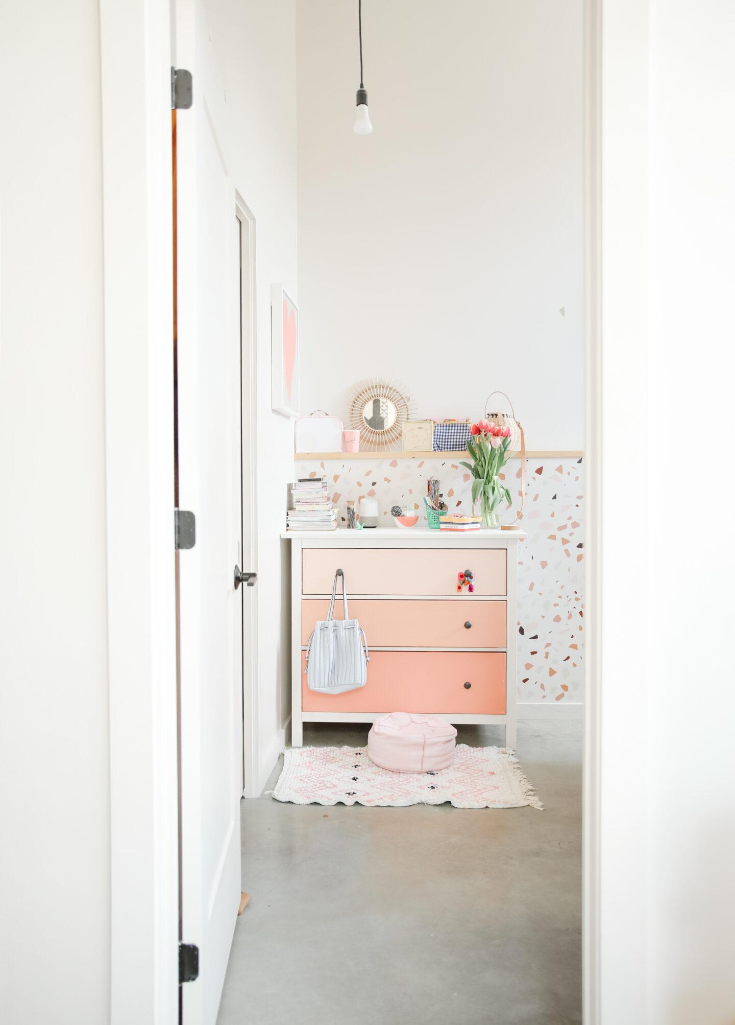 Pink Terrazzo Bedroom Decor
