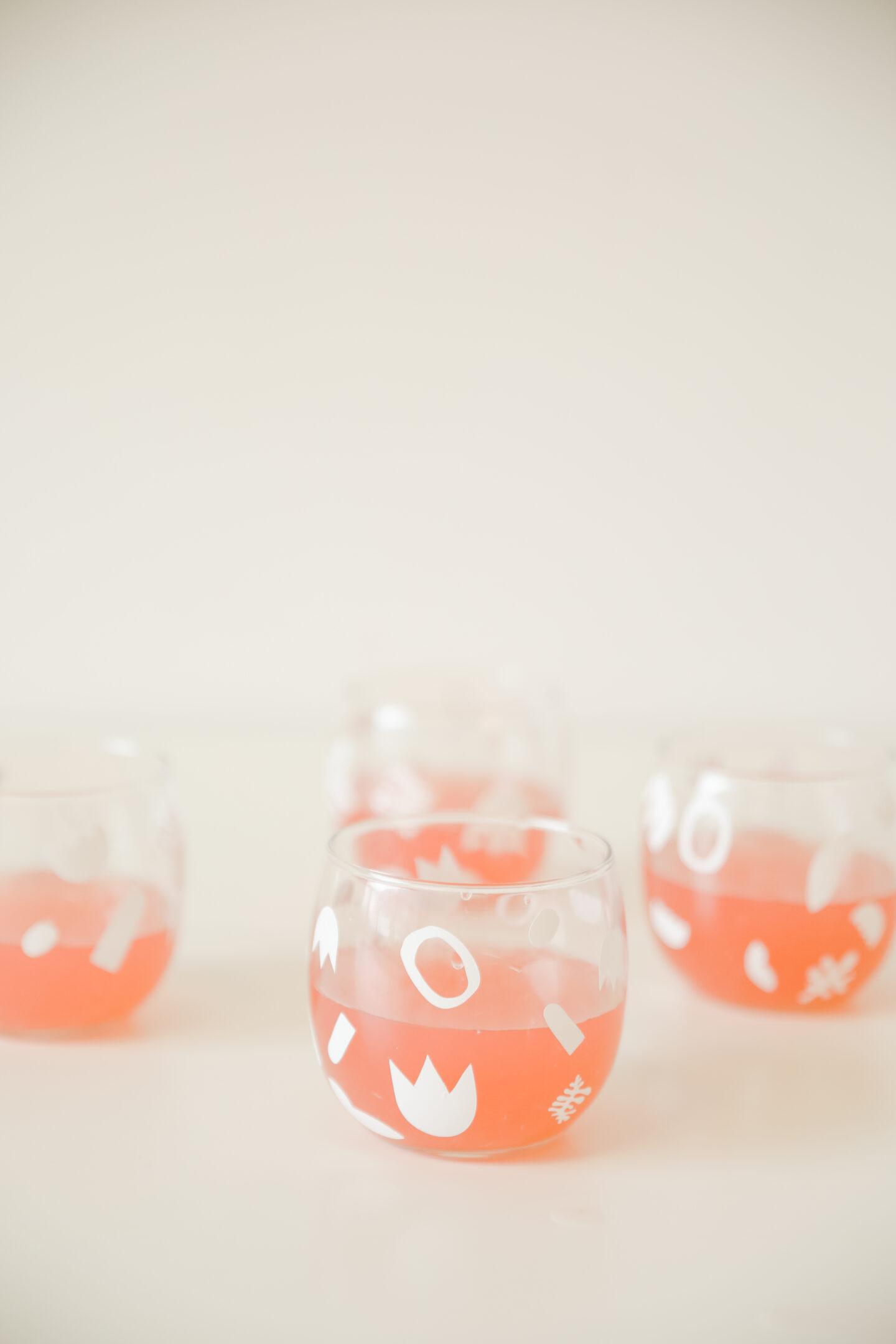 Matisse cocktail glasses DIY