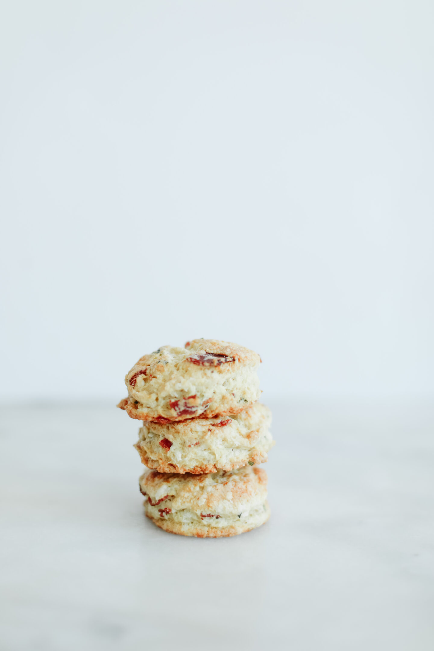 mini scones with feta and bacon