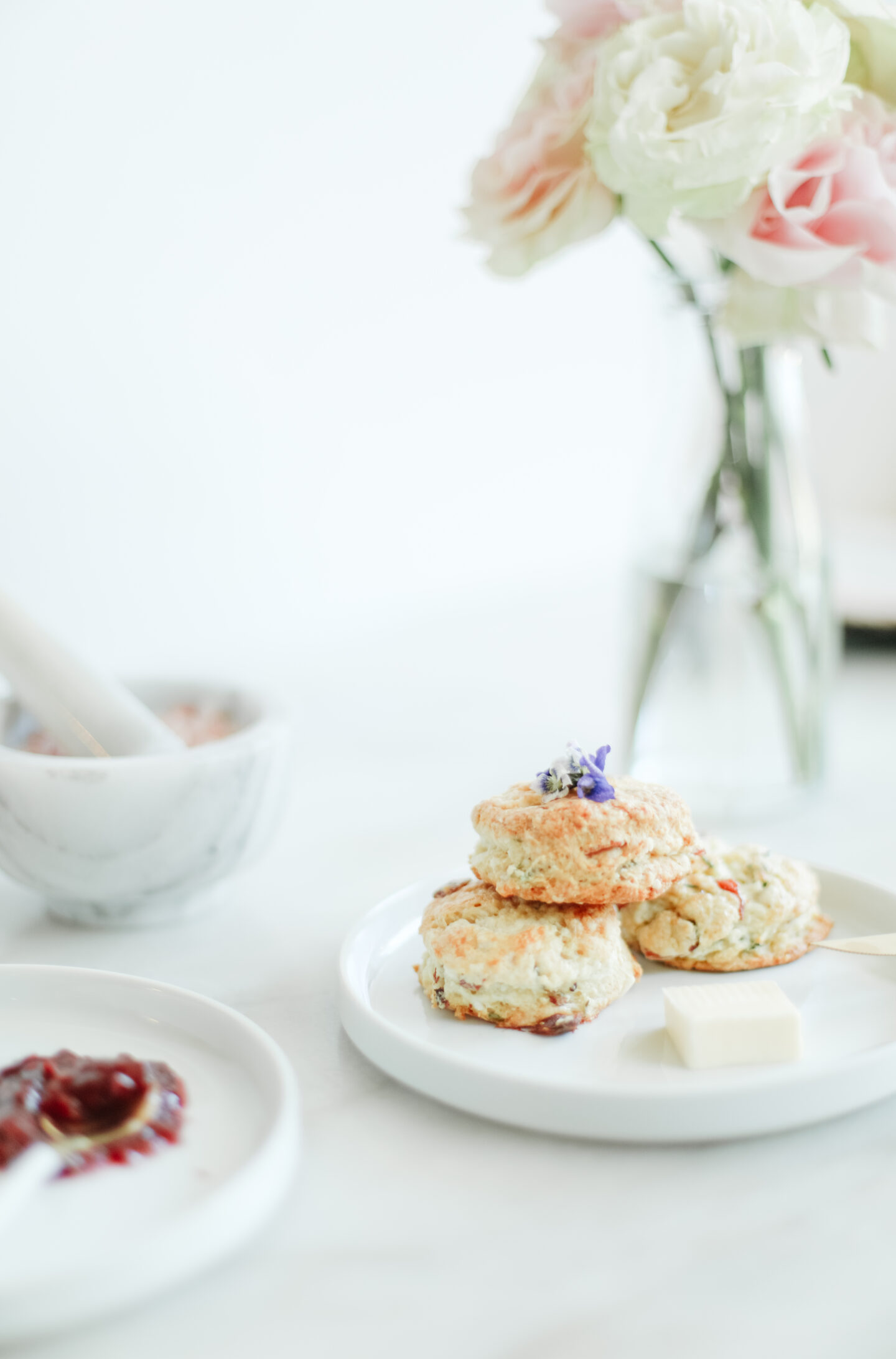 Savory scones: Feta and bacon