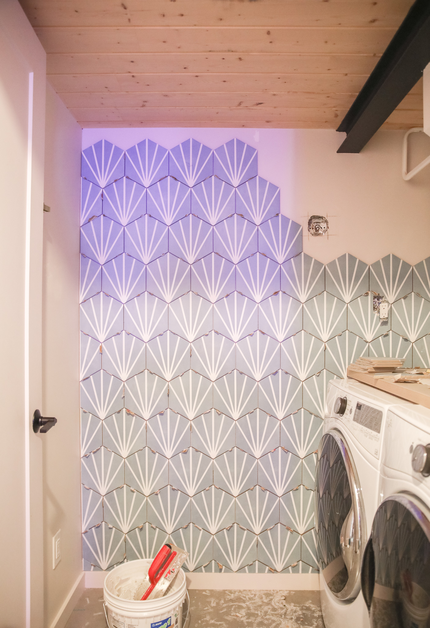 Tile in Laundry Room