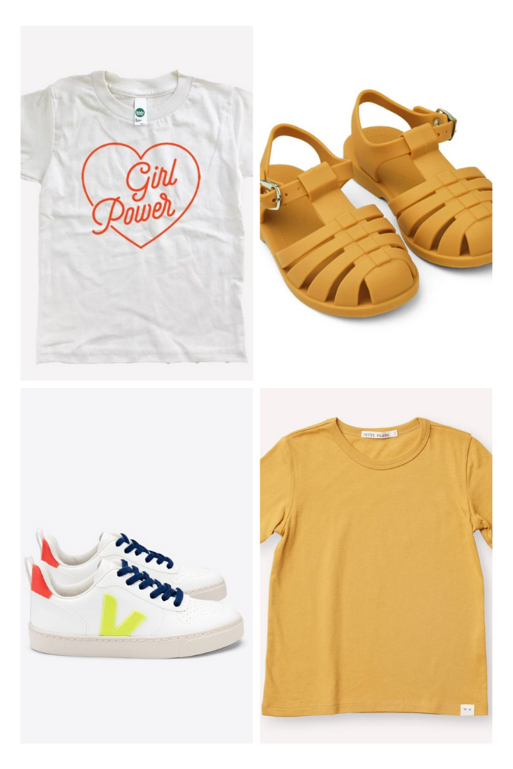 Basic tees and shoes: back to school