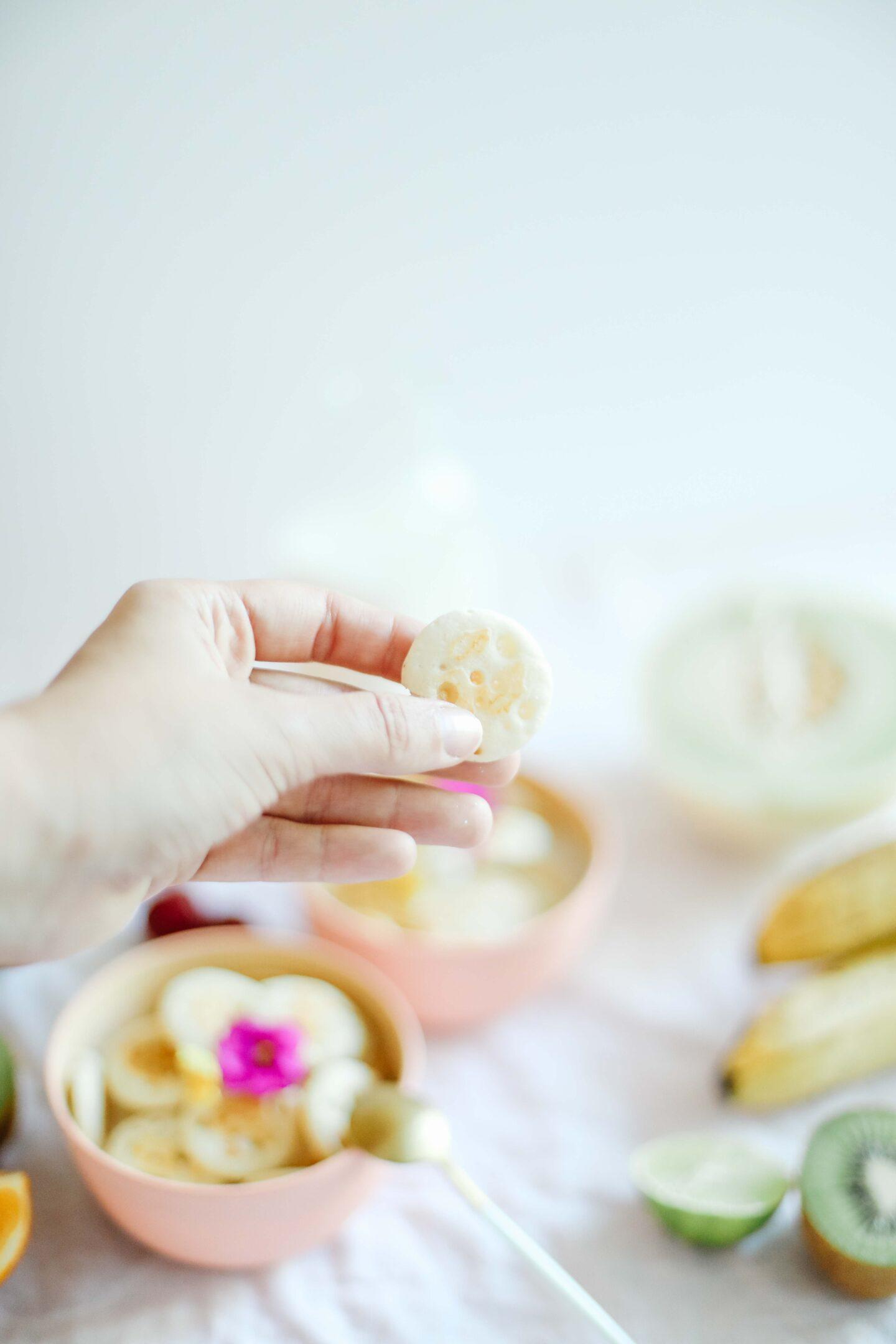 Tiny cereal pancake bowls