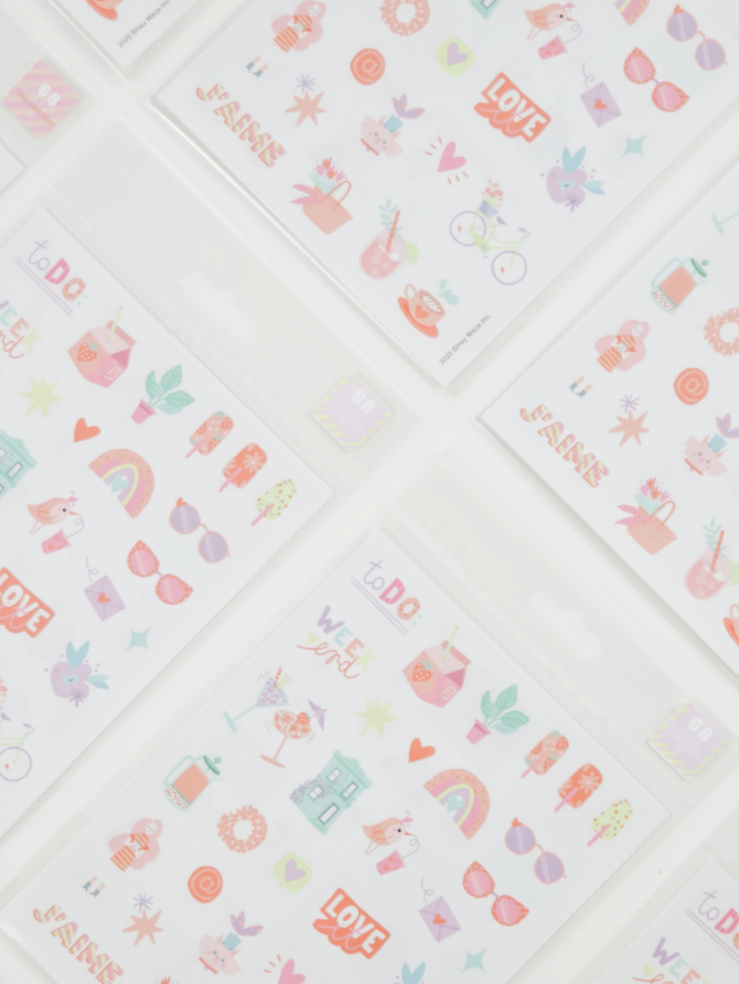 Sticker sheets collection