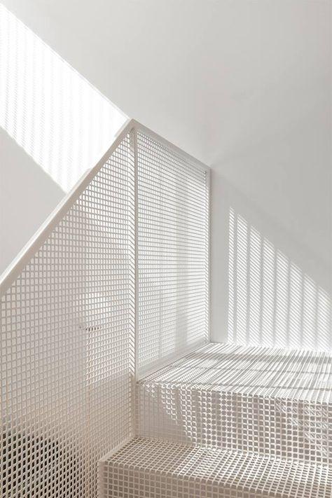 Stair design idea in white