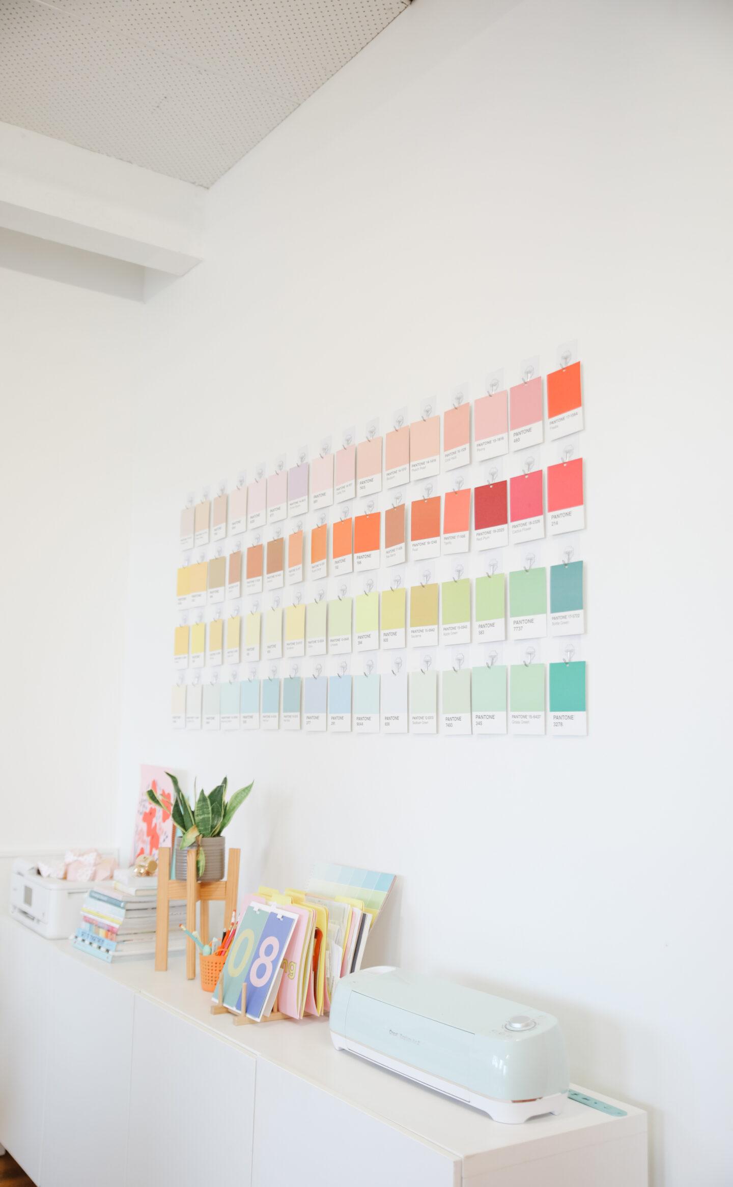 Office Idea: Pantone wall decor