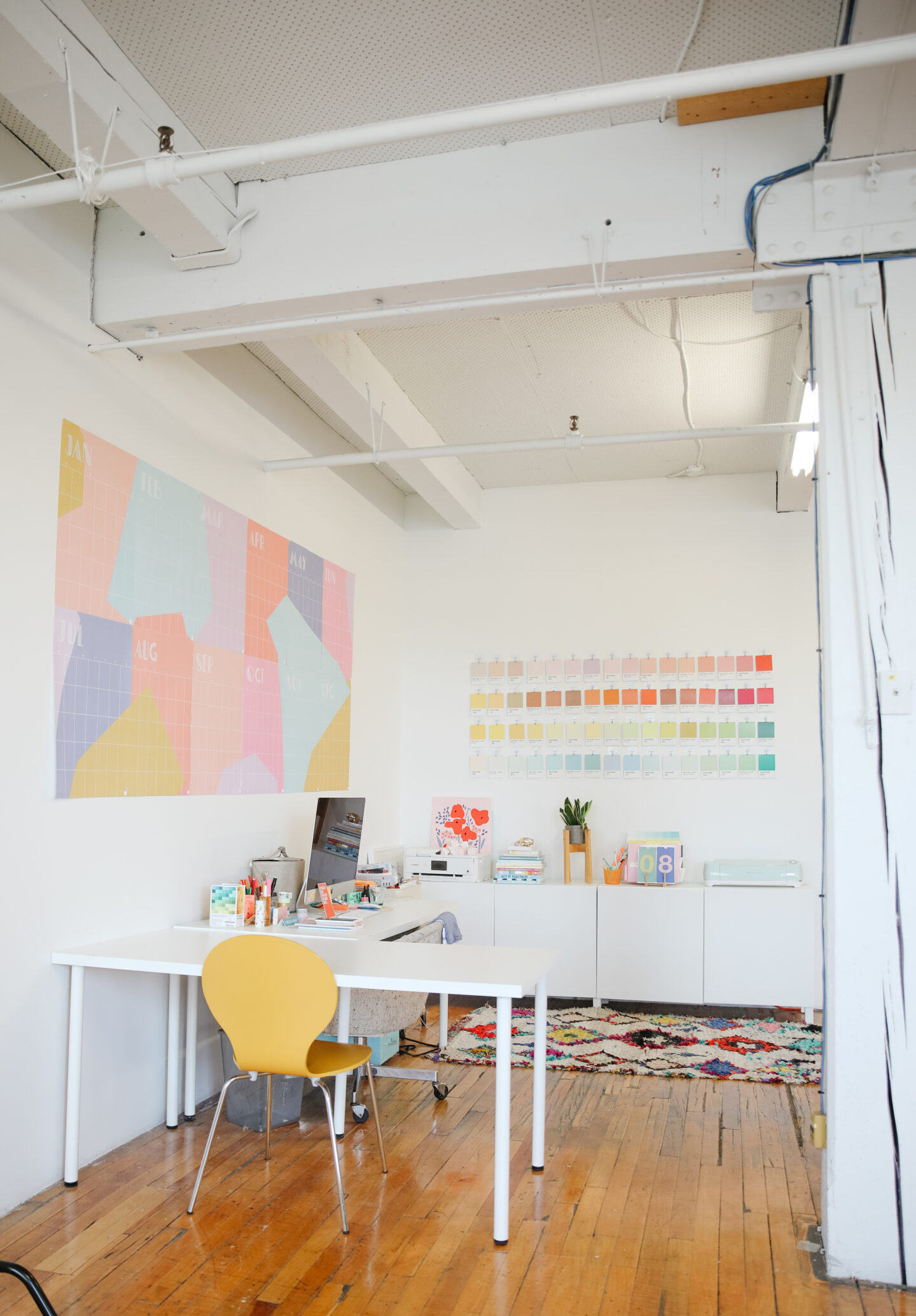 Colourful design studio