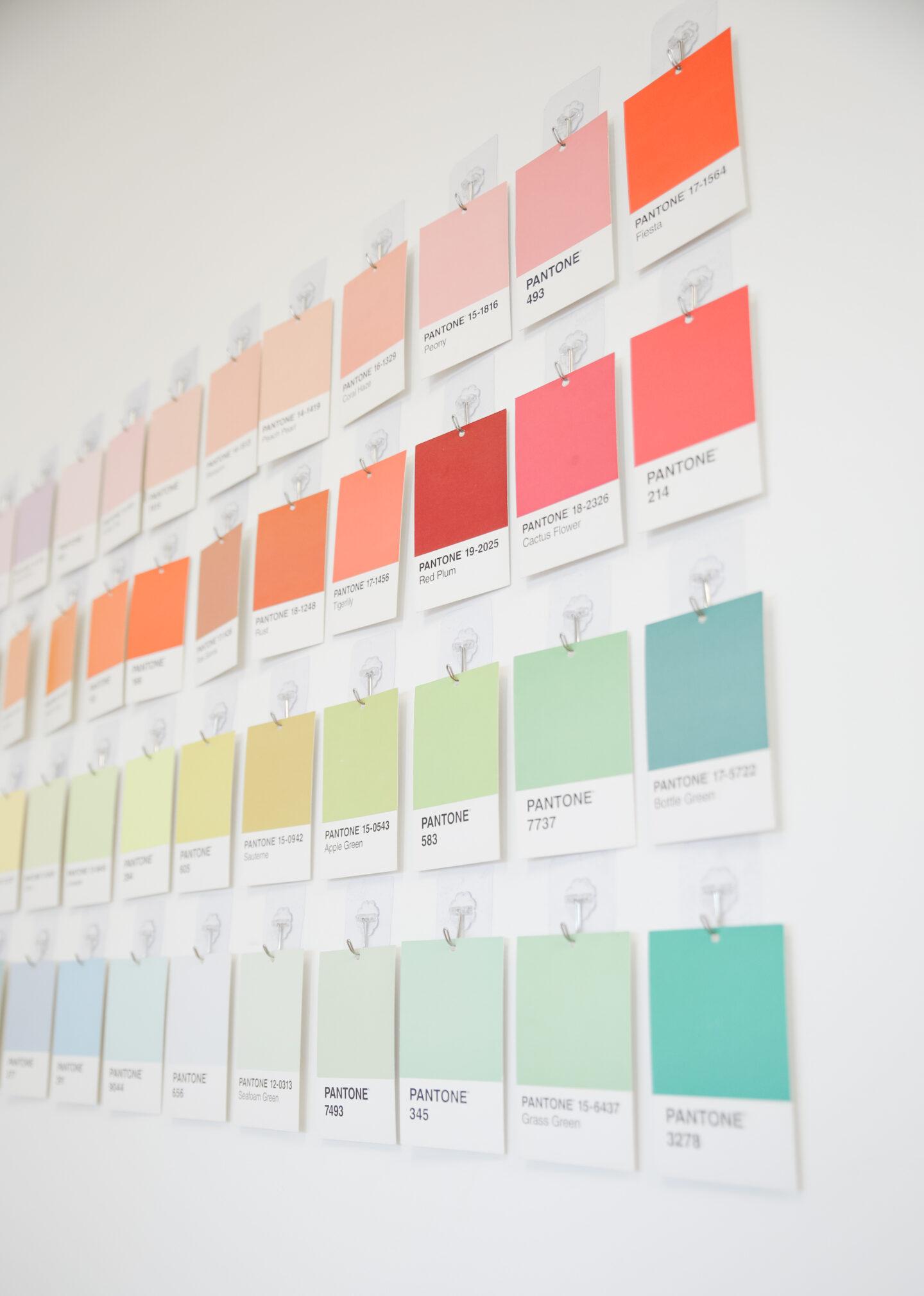 Pantone Cards Wall Decor