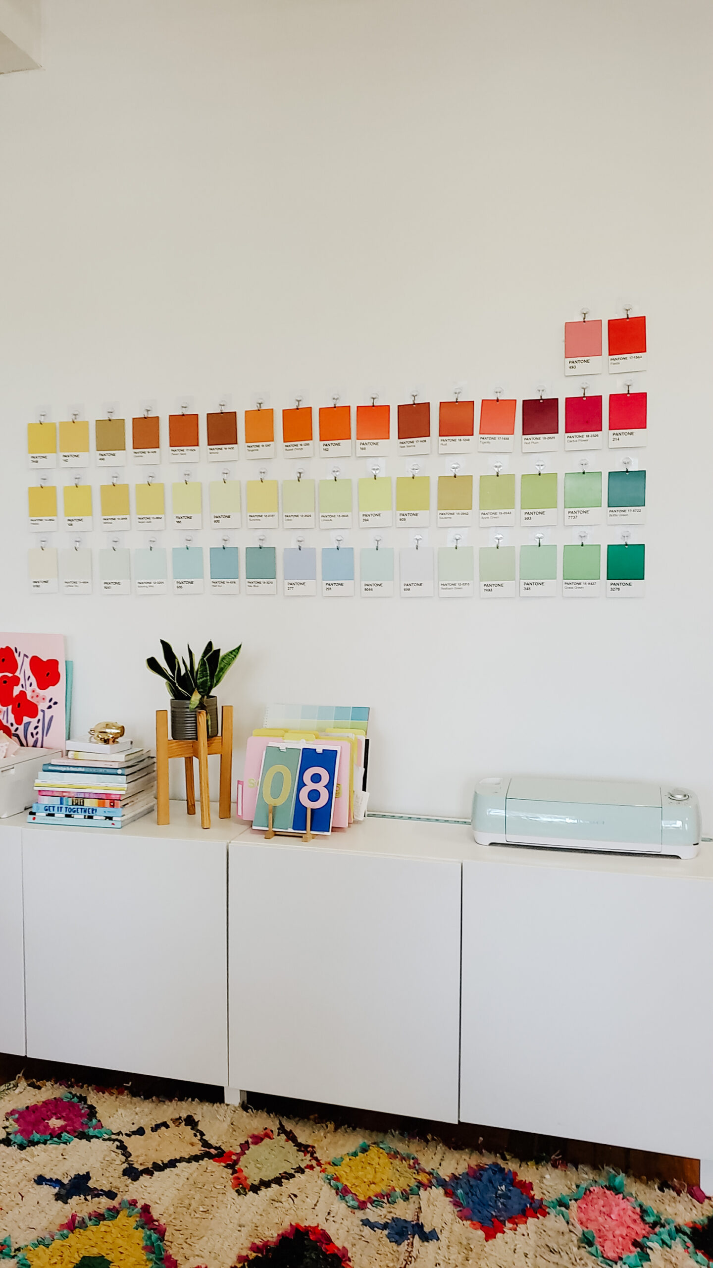 Pantone Wall decor idea