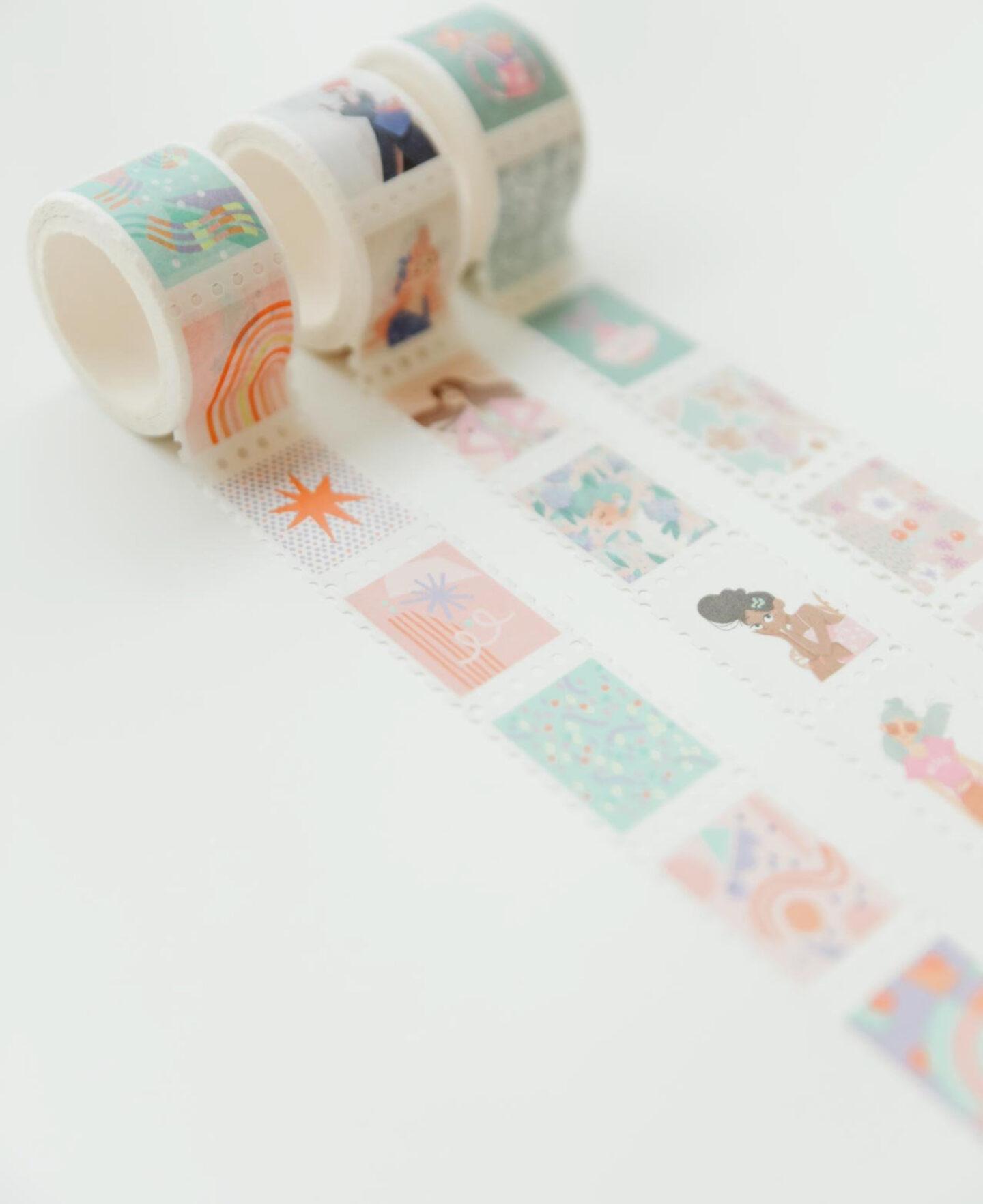Washi stamp tapes design