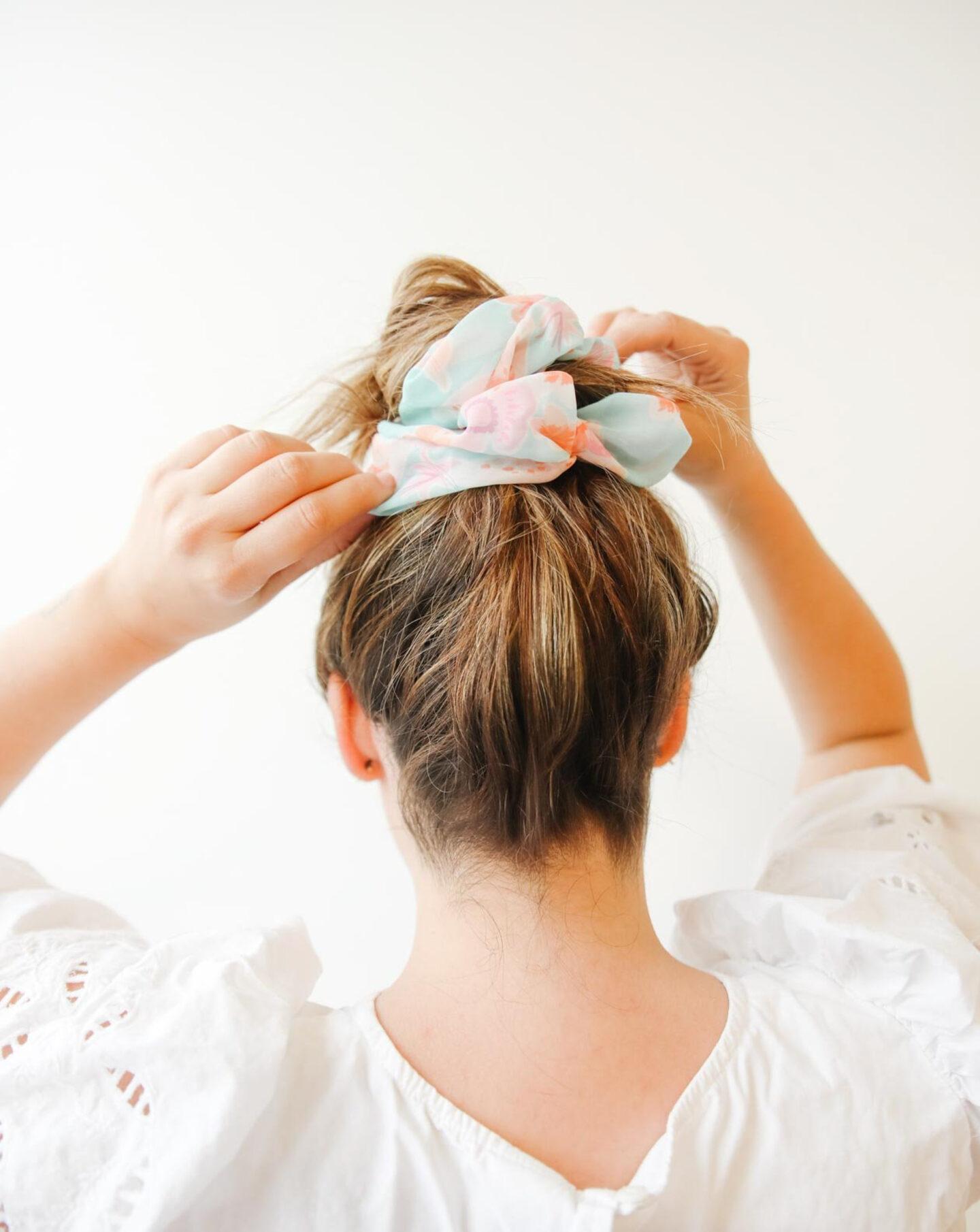 Colourful scrunchies