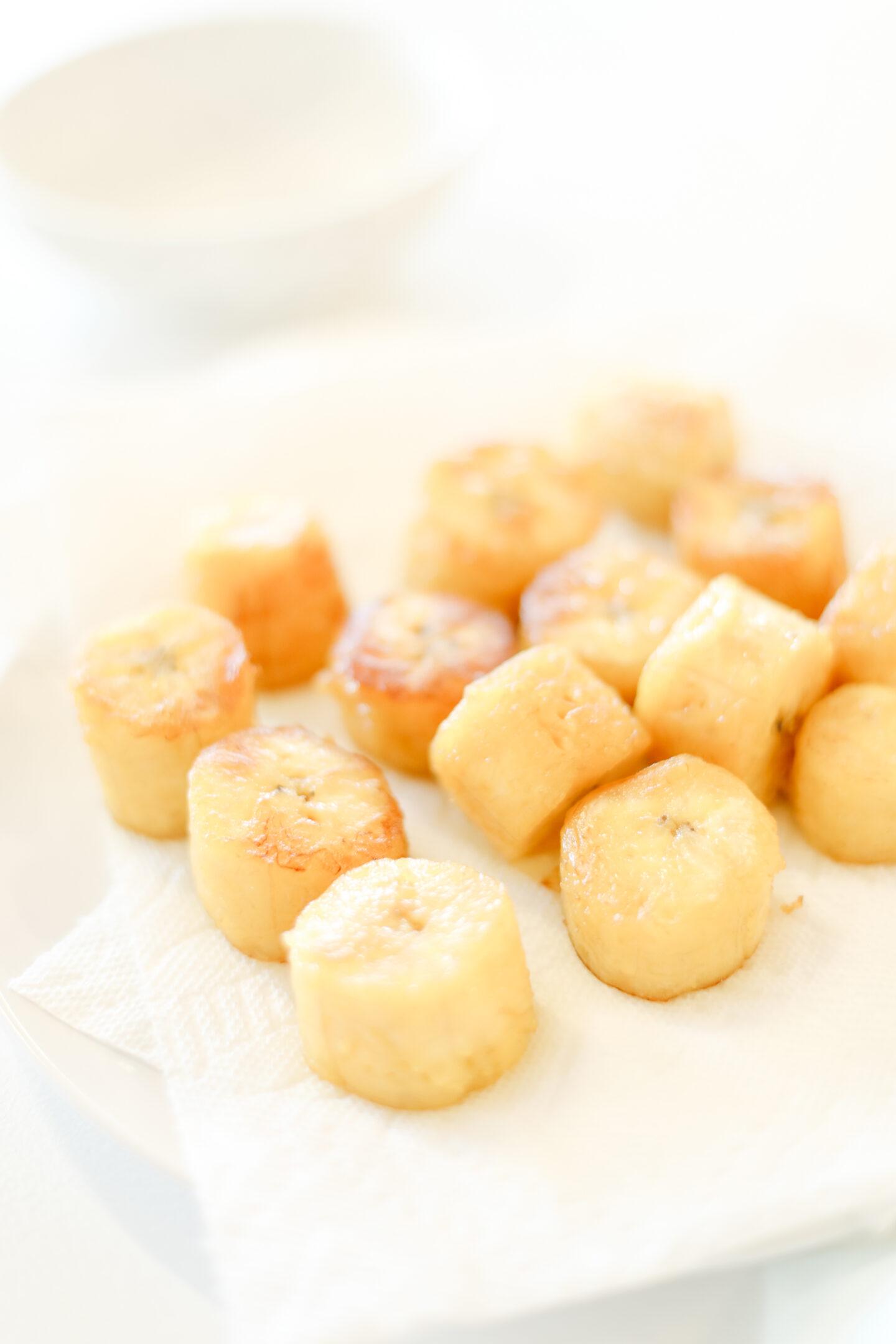 deep fried plantain plates