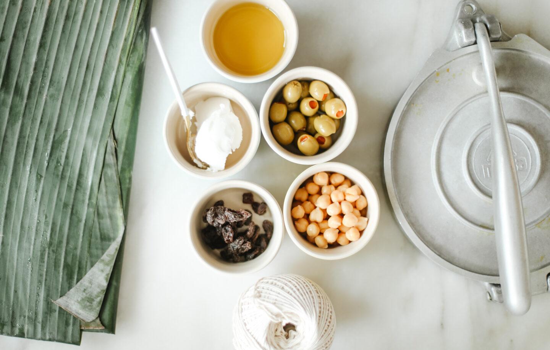 Hallacas ingredients