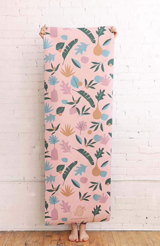 Colourful yoga mat design