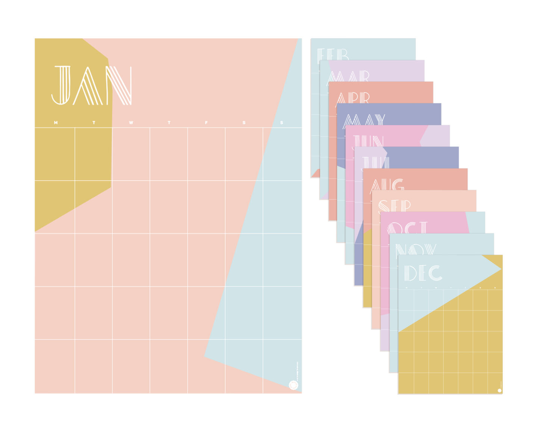 Perpetual wall calendar design