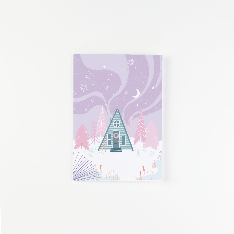 Christmas Cabin Greeting Card