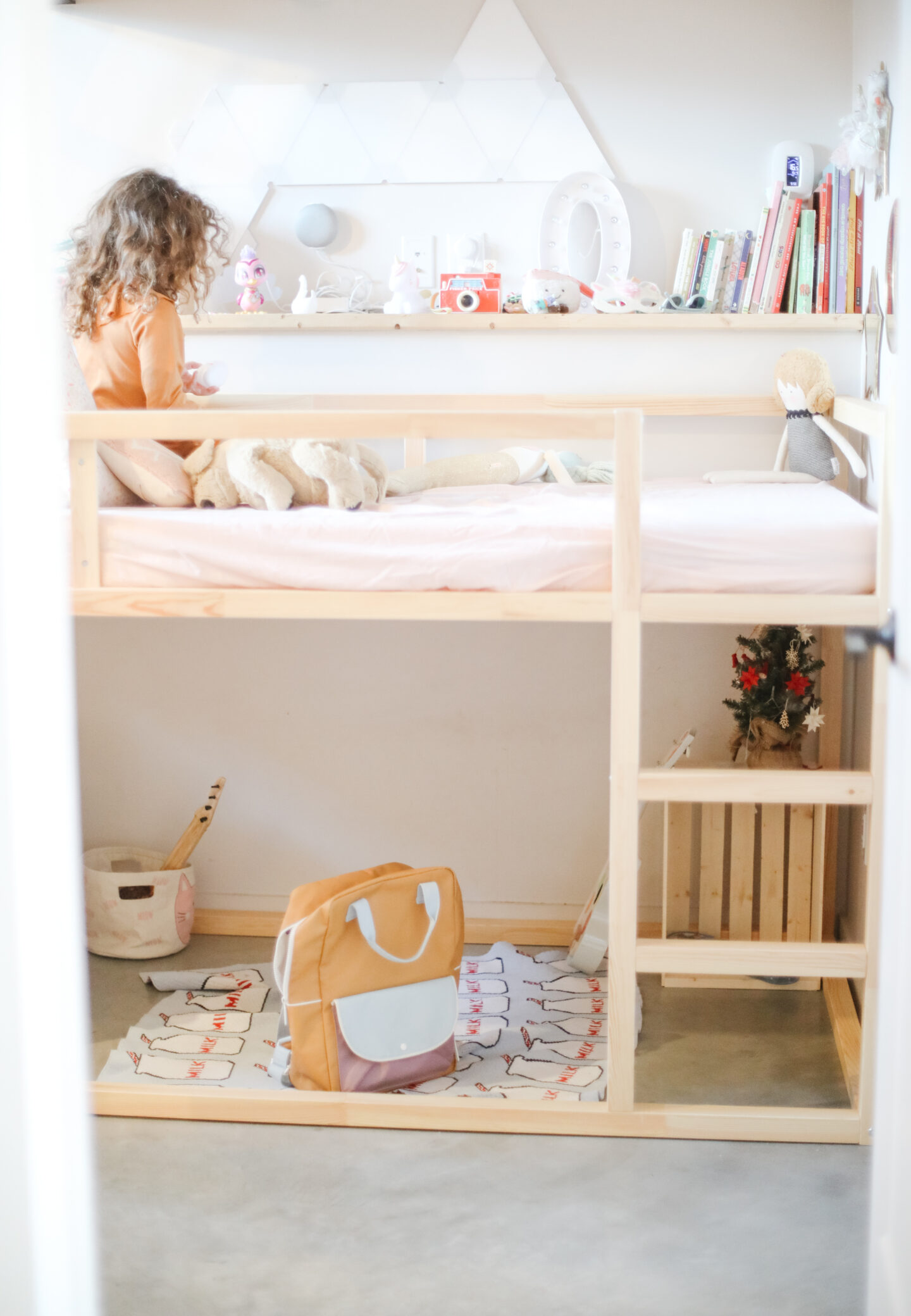 a kids room with ikea bunk bed