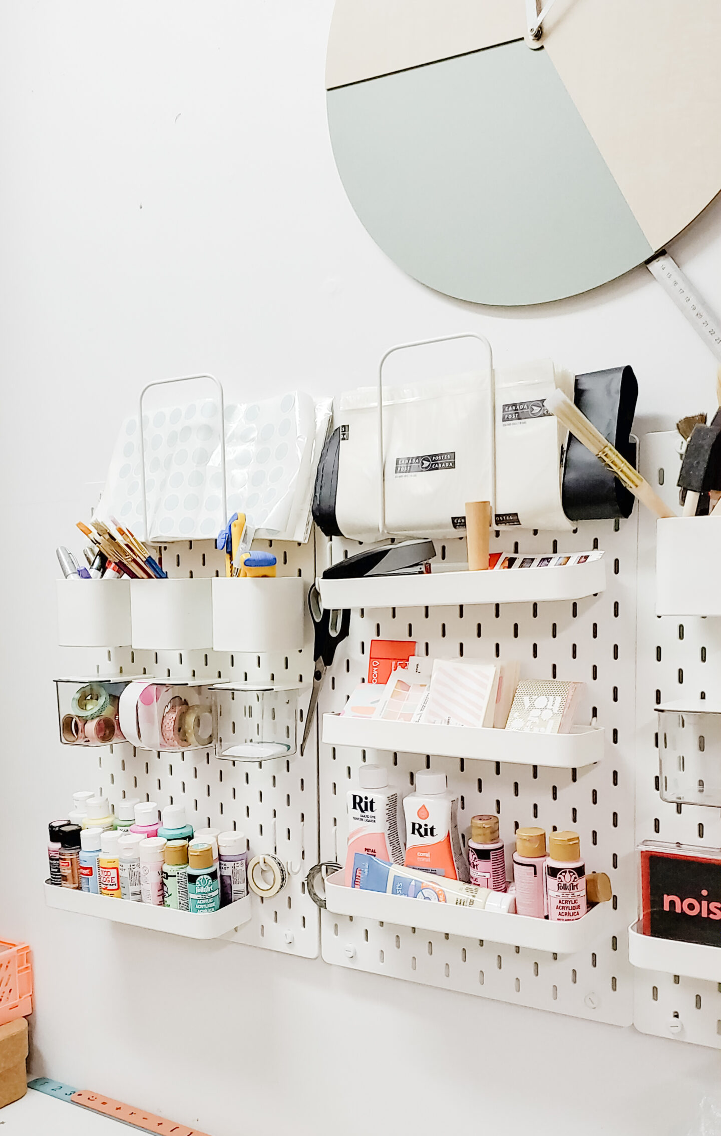 Pegboard organization ideas