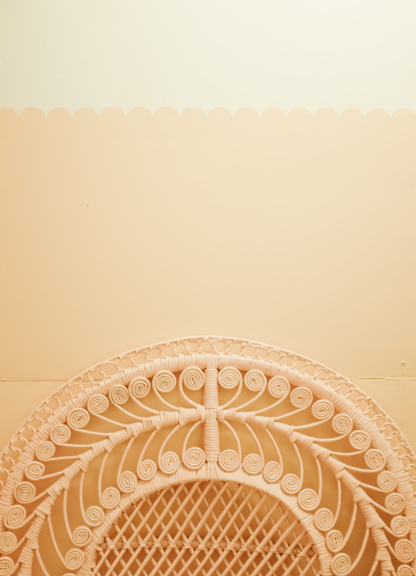Scalloped wall tutorial in easy steps