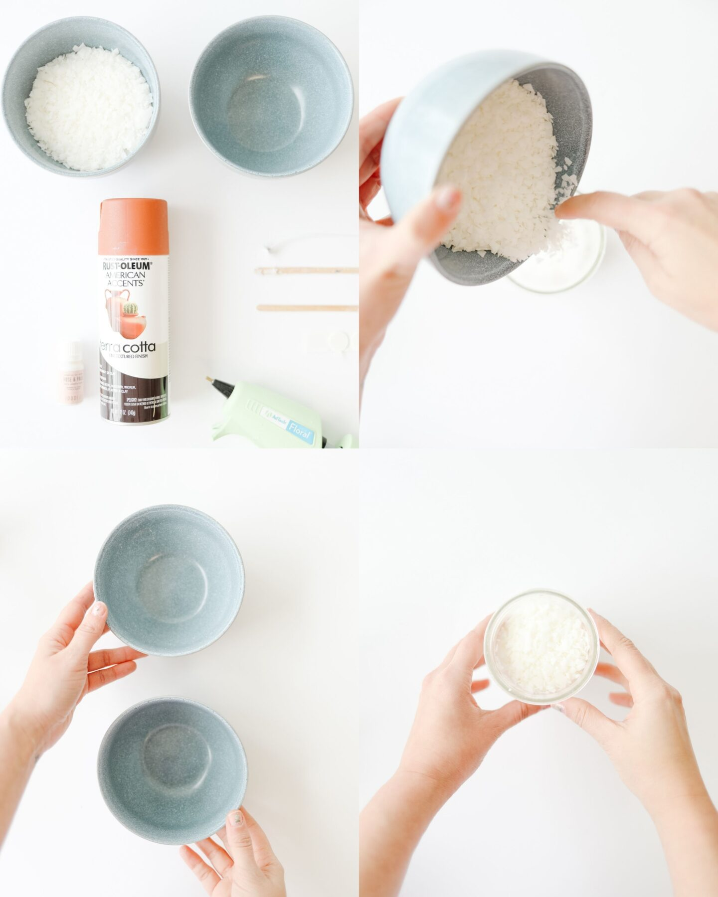 Modern terracotta candle DIY tutorial