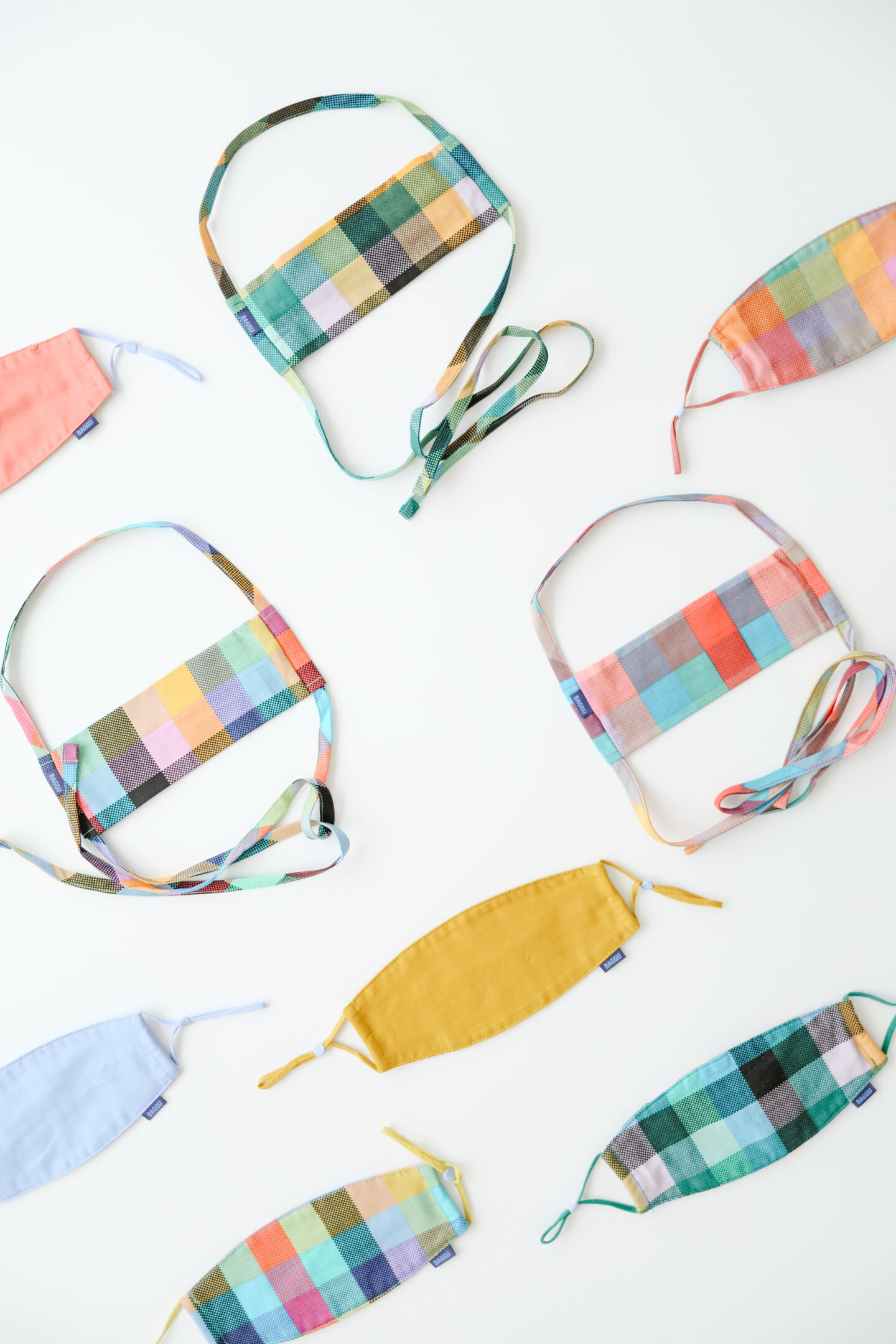 Colorful fabric masks designs
