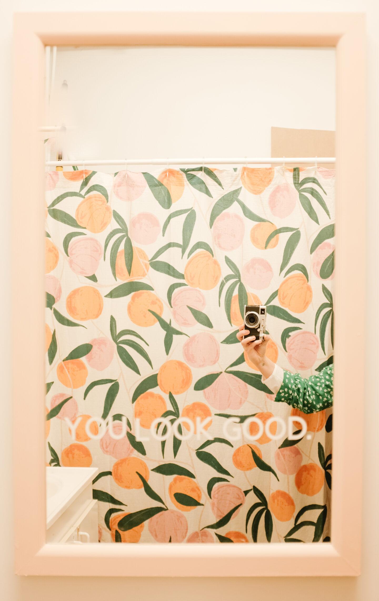 you look good mirror in a bathroom
