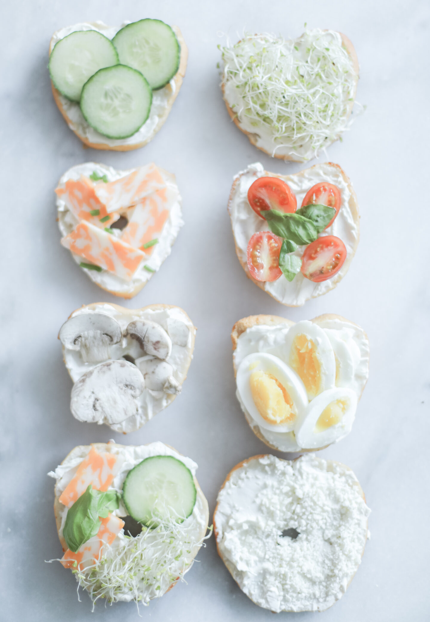 gluten free lactose free bagel recipe with toppings