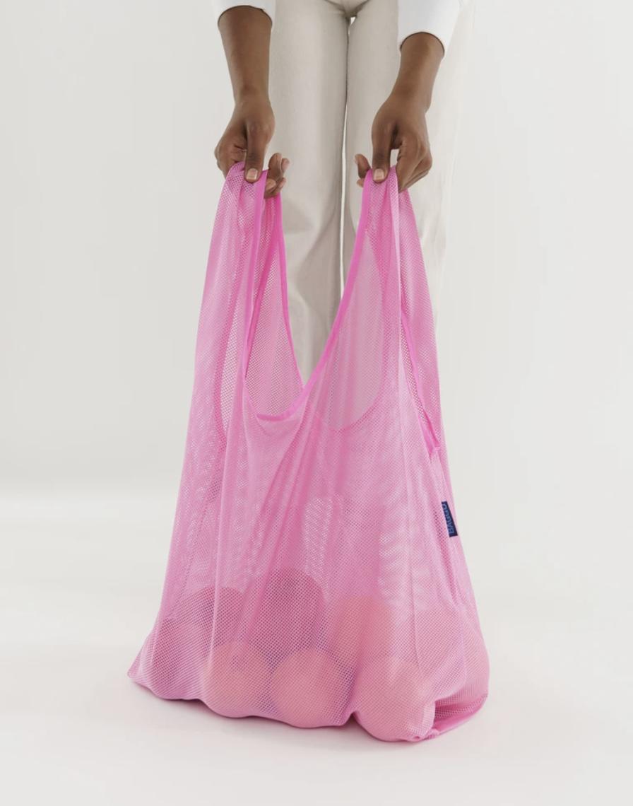 Mesh pink reusable bag