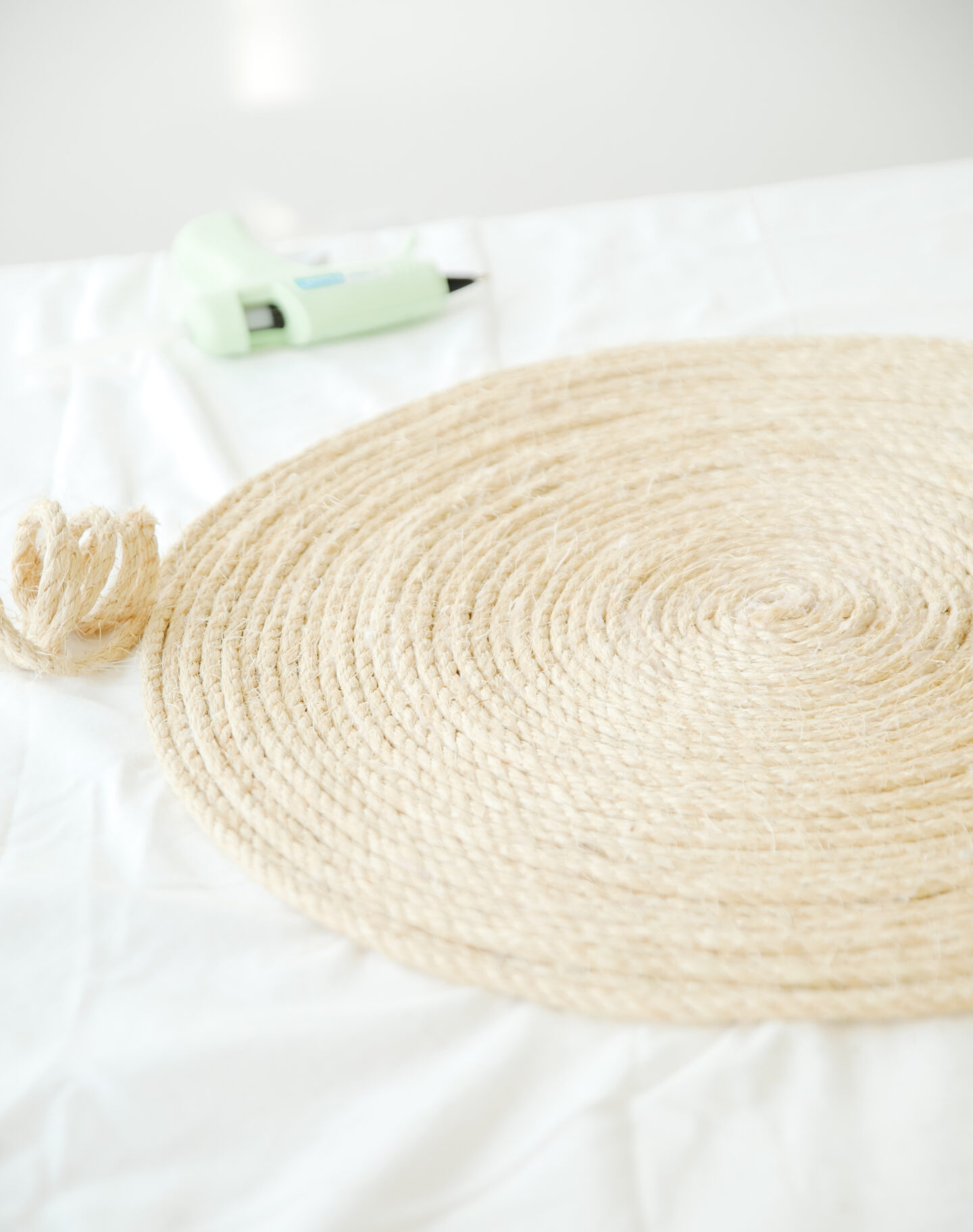 Round Rope Rug Easy DIY project