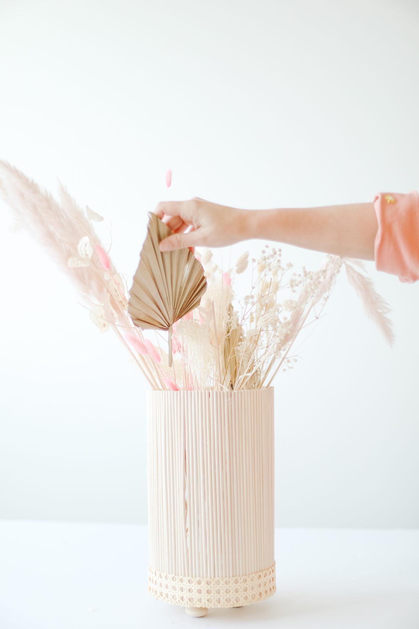 Scandi wooden vase DIY project