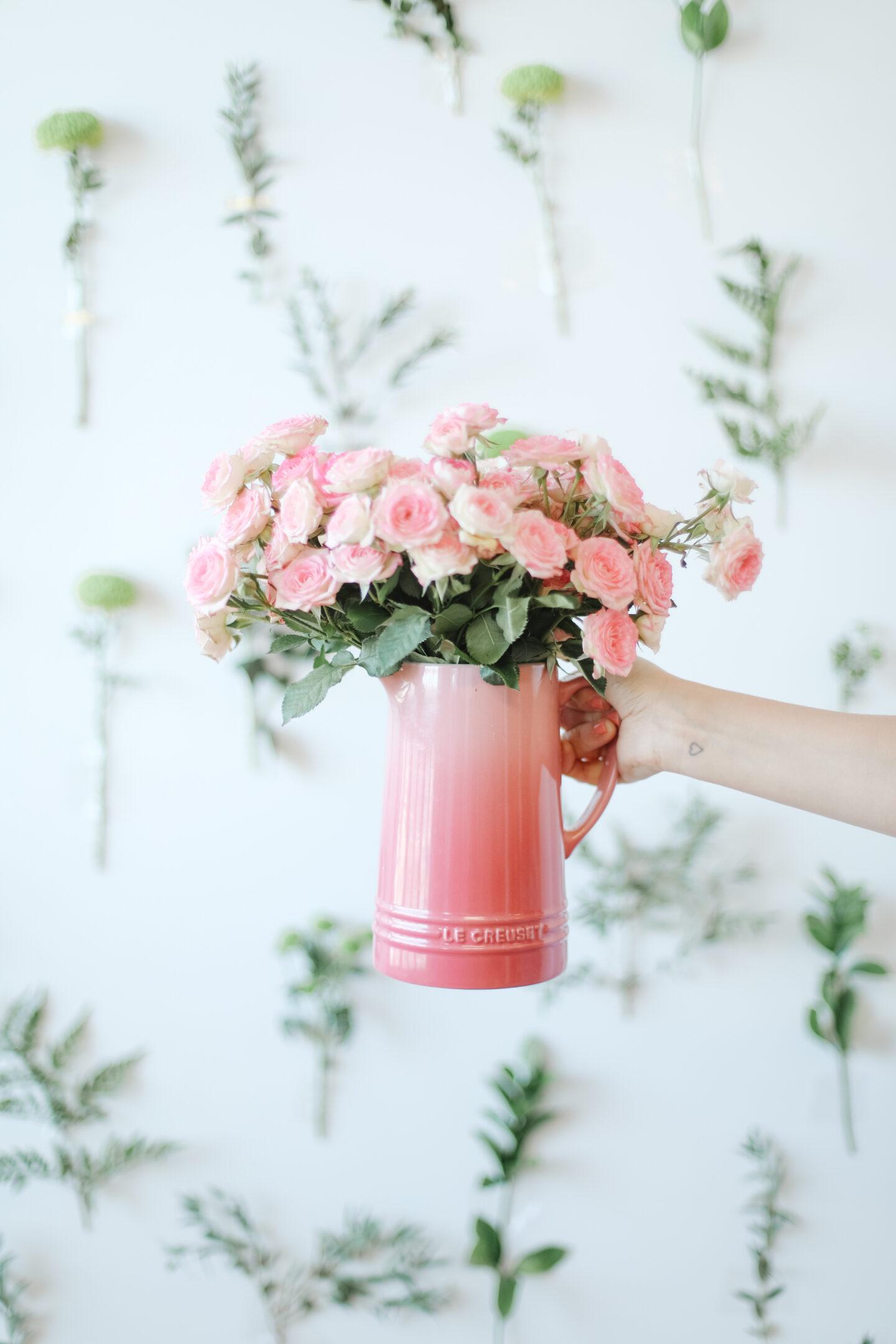 Spring Floral Wall Decor Idea