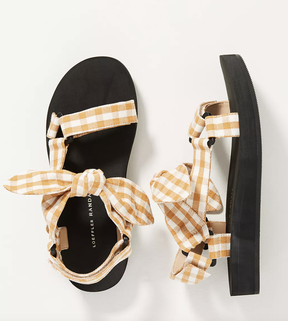 Gingham Sandals for Spring