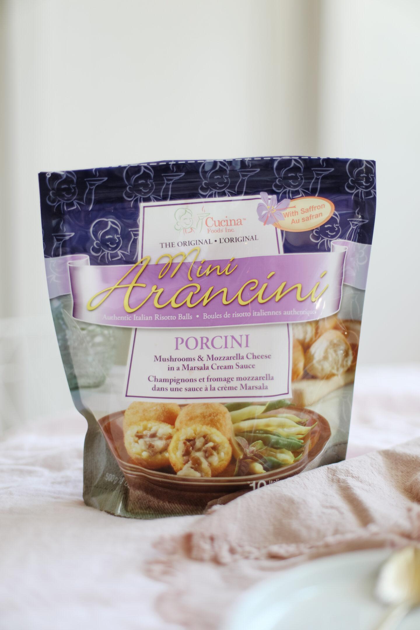 Porcini mini arancini balls recipe