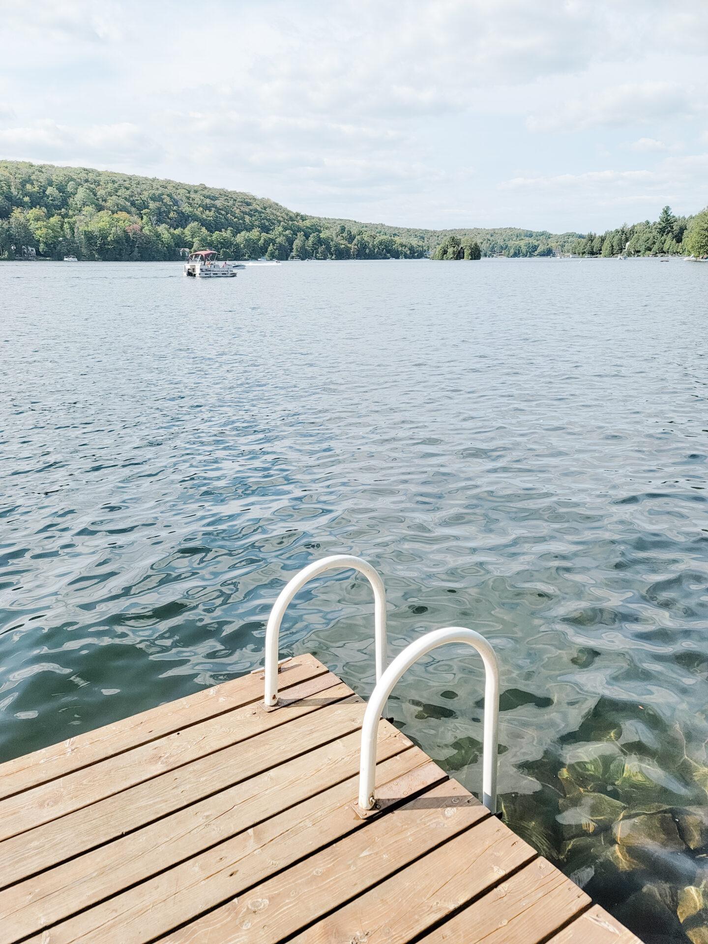 Lake views during summer in quebec