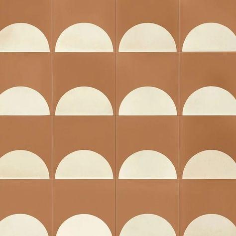 ceramic floor design half moon